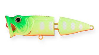 Воблер Поппер составной Strike Pro Pike Pop Joint 75, 75 мм, 11 гр,  Плавающий, цвет: A178S Lemon Mat Tiger,