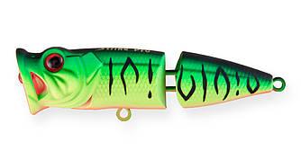 Воблер Поппер составной Strike Pro Pike Pop Joint 75, 75 мм, 11 гр,  Плавающий, цвет: GC01S Mat Tiger,