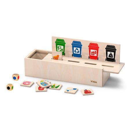 Деревянный игровой набор Viga Toys Сортировка мусора (44504)