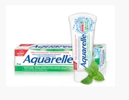Зубна паста Aquarelle Thermal (75мл.) в асортименті, фото 2