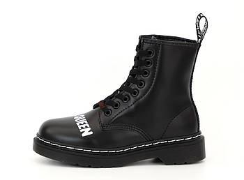Демисезонные ботинки Dr. Martens x Sex Pistols  'God Save the Queen' (Premium-class) с мехом