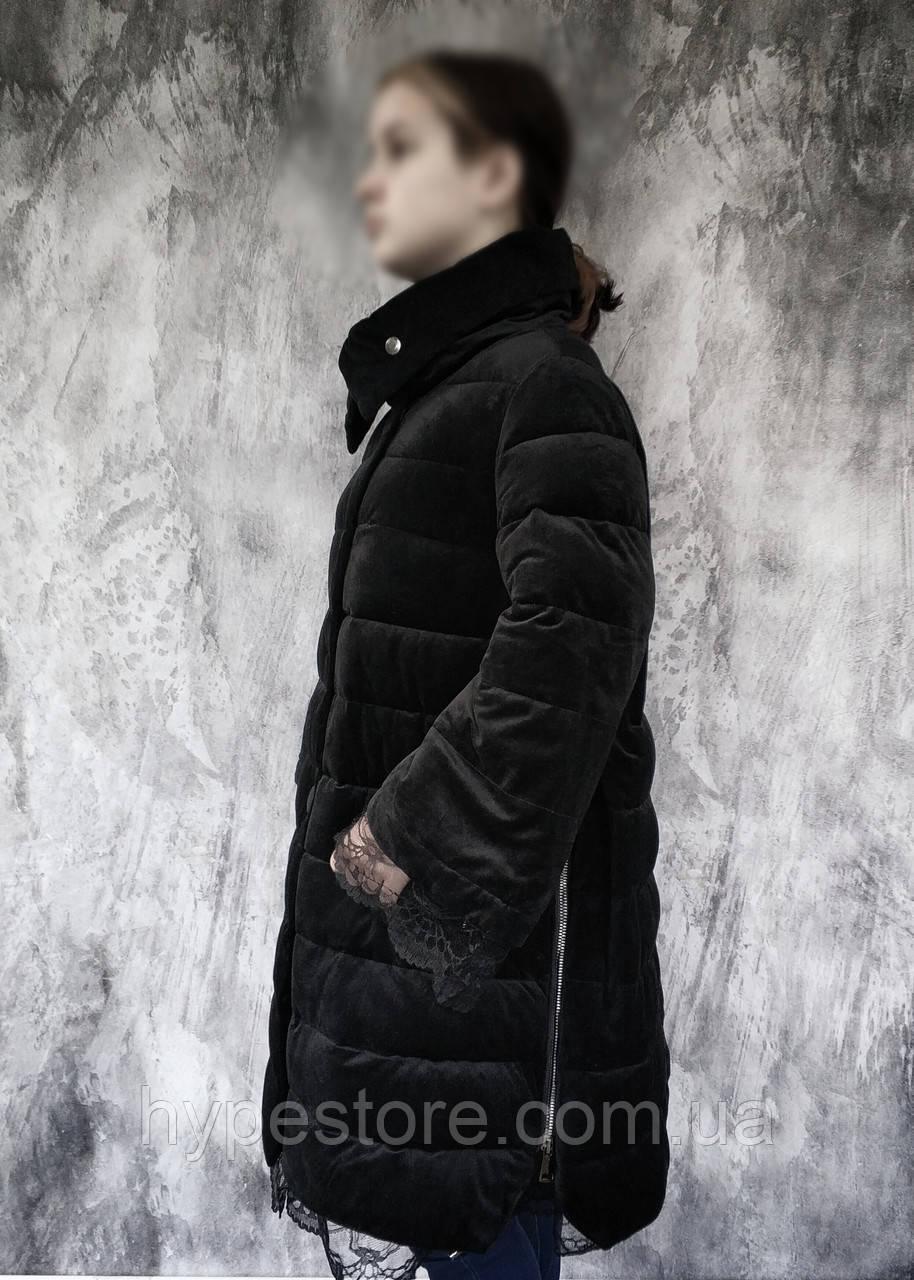 Тепла довга зимова куртка пальто, р. 46(євро), див. на виміри в ПОВНОМУ ОПИСІ товару!