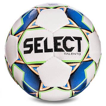 М'яч футбольний №4 SELECT TALENTO (FPUS 1400, біло-синій)