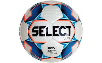 М'яч футзальний №4 SELECT FUTSAL MIMAS IMS (FPUS 1300, біло-синій)