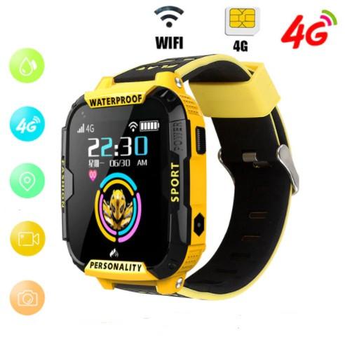 Детские Умные часы с GPS видеозвонком и 4G K22 Желто - черрные
