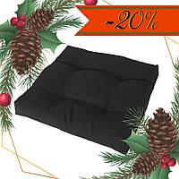 Подушка на стул Кедр на Ливане квадратная стеганная серия Color mini 35x35x5 см Черный (1127)