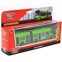 Машинка игровая «TechnoPark» Троллейбус Харьков со световыми и звуковыми эффектами, 18х4х4 см (SB-18-11WB(NO, фото 2