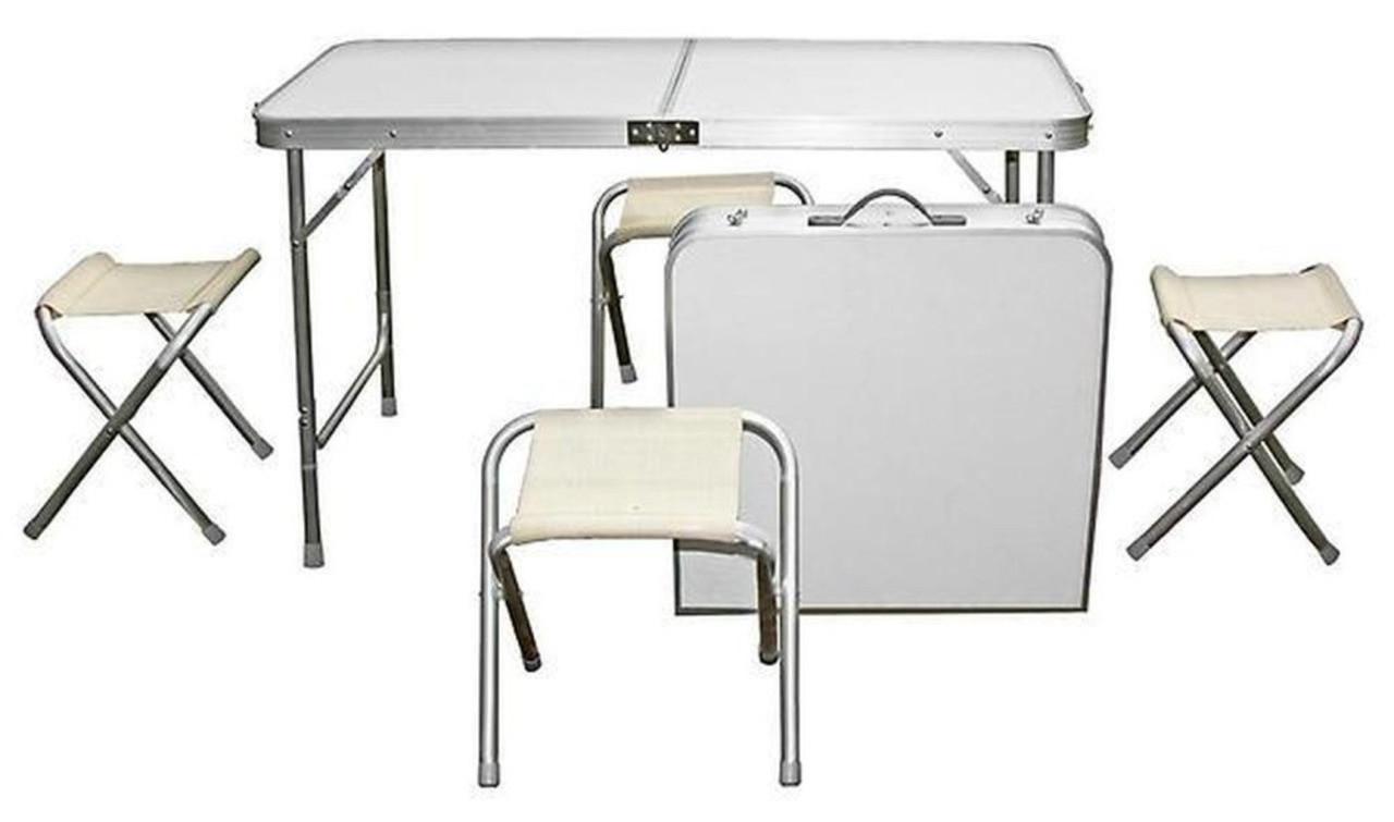 🔥 Стол туристический +4 стульчика ,для отдыха на природе