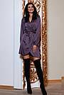 Молодёжное вечернее платье короткое на запах шёлковое, фото 2