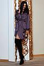 Молодёжное вечернее платье короткое на запах шёлковое, фото 3
