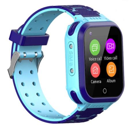 Детские Умные часы с GPS видеозвонком и 4G T3 Сине - голубые