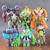 Игровой набор Ben 10. 11 фигурок героев 3-13 см Бен 10 + Свет Бентен, фото 3