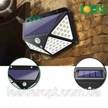 ОПТ Уличный настенный светильник Lesko SH-100 на солнечной батарее с датчиком движения
