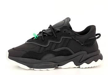 Мужские рефлективные кроссовки adidas Ozweego (Premium-class) черные
