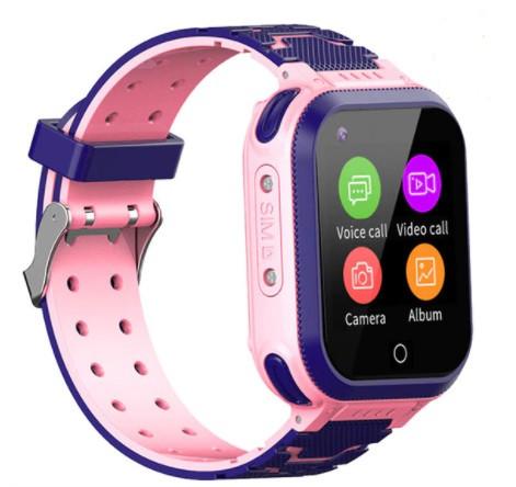 Детские Умные часы с GPS видеозвонком и 4G T3 Розовые