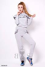 Жіночий спортивний костюм Подіум Madison 23510-GREY XS Сірий S