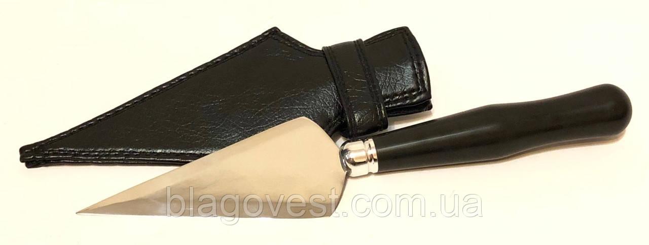 Копие большое в чехле эбонит ручка (длина лезвия 120мм)