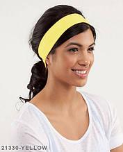 Пов'язка на голову Подіум 21330-YELLOW uni Жовтий