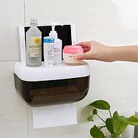Пластиковый органайзер для туалетной бумаги с полкой