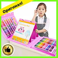 Детский набор для творчества и рисования 208 предметов (pink)