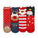 Новогодние женские носки в подарочной упаковке 4 пары, фото 3