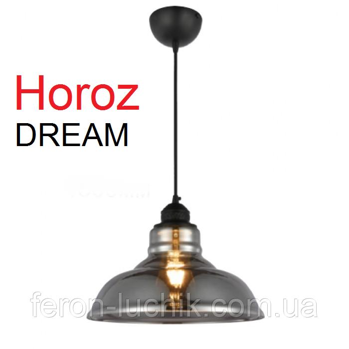 Светильник подвесной E27 Horoz DREAM титановый