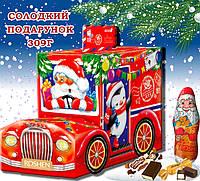 Сладкий новогодний подарок с конфетами 309г Санта