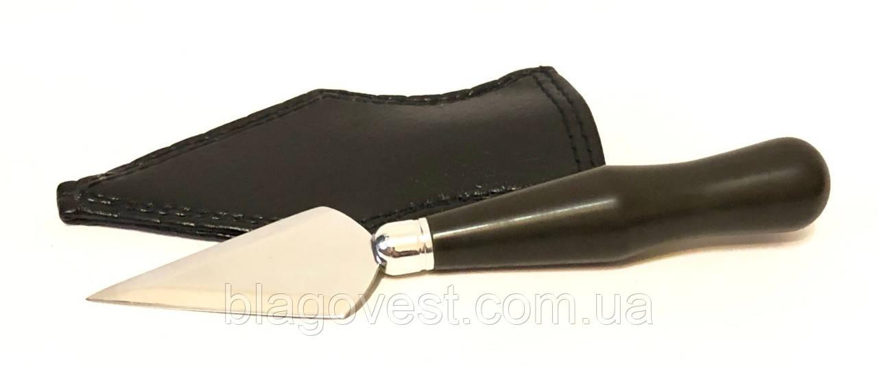 Копие среднее эбонит ручка в чехле (длина лезвия 70мм)