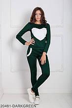 Жіночий спортивний костюм Подіум Williams 20481-DARKGREEN XS Зелений XXL