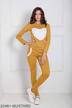 Жіночий спортивний костюм Подіум Williams 20481-MUSTARD XS Гірчичний S
