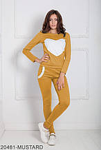 Жіночий спортивний костюм Подіум Williams 20481-MUSTARD XS Гірчичний XXL