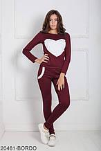 Жіночий спортивний костюм Подіум Williams 20481-BORDO XS Бордовий L
