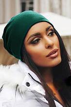 Жіноча шапка Подіум Jersey 20479-DARKGREEN uni Зелений