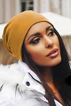 Жіноча шапка Подіум Jersey 20479-MUSTARD uni Гірчичний