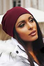 Жіноча шапка Подіум Jersey 20479-BORDO uni Бордовий