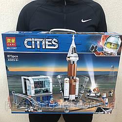 Конструктор Ракета для запуска в далекий космос и кабина управления запуском Cities Lari 11387 873 детали