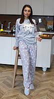 Женская Пижама Теплая Размер S Серая. Домашний Костюм.