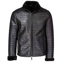 Зимняя куртка из кожи крокодила