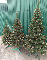 Новогодняя искусственная елка сосна с золотистыми кончиками (ПВХ)