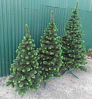 Новогодняя искусственная елка сосна с салатовыми кончиками (ПВХ)