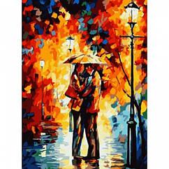 """Картина по номерам """"Осенняя встреча"""", Холст на Деревянном подрамнике, Акриловые Краски, Кисти, Размер:"""