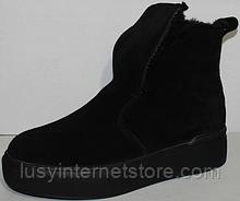 Черевики жіночі зимові замшеві від виробника модель УН536