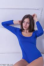 Жіноче боді Подіум Slim 17497-BLUE XS Синій XXL