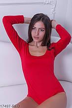 Жіноче боді Подіум Slim 17497-RED XS Червоний