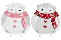 """Керамическое рождественское блюдо """"Сова"""" новогодняя посуда 26 см, набор 2 шт"""