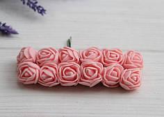 Розы 2,0 см , персиково - розовые           144 шт