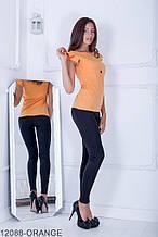 Жіноча блузка Подіум Trefoil 12088-ORANGE S Помаранчевий M