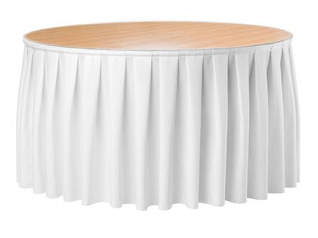 Фуршетна спідниця з липучкою 5,80 м Біла для столу діаметром 180см Стандартної висоти, фото 2