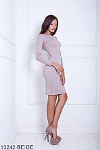 Жіноче плаття Подіум Marigold 13242-BEIGE S Бежевий