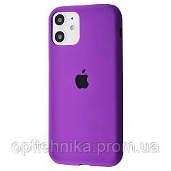 Silicone Case Full Cover iPhone 11 purple